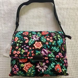 Vera Bradley Iconic Messenger Tote Vines Floral